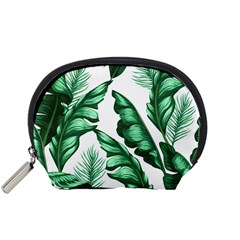 Banana Leaves And Fruit Isolated With Four Pattern Accessory Pouches (small)