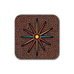 Star Rubber Square Coaster (4 Pack)  by linceazul