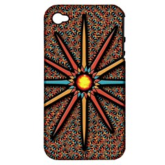 Star Apple Iphone 4/4s Hardshell Case (pc+silicone) by linceazul