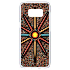 Star Samsung Galaxy S8 White Seamless Case by linceazul
