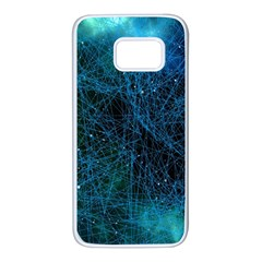 System Network Connection Connected Samsung Galaxy S7 White Seamless Case