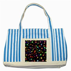 Fireworks Rocket New Year S Day Striped Blue Tote Bag by Celenk