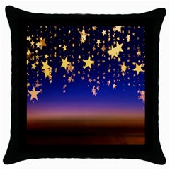 Christmas Background Star Curtain Throw Pillow Case (black) by Celenk