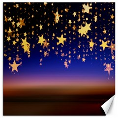Christmas Background Star Curtain Canvas 16  X 16   by Celenk