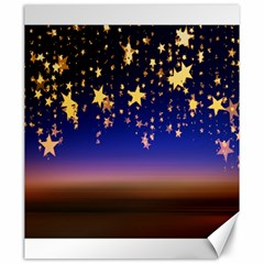 Christmas Background Star Curtain Canvas 20  X 24   by Celenk