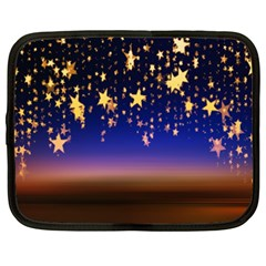 Christmas Background Star Curtain Netbook Case (xxl)  by Celenk