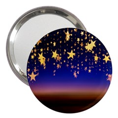 Christmas Background Star Curtain 3  Handbag Mirrors by Celenk