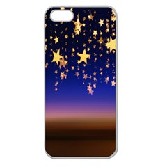 Christmas Background Star Curtain Apple Seamless Iphone 5 Case (clear)