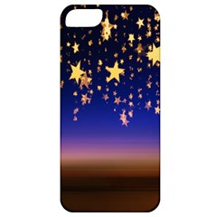 Christmas Background Star Curtain Apple Iphone 5 Classic Hardshell Case by Celenk