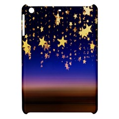 Christmas Background Star Curtain Apple Ipad Mini Hardshell Case by Celenk