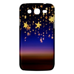 Christmas Background Star Curtain Samsung Galaxy Mega 5 8 I9152 Hardshell Case  by Celenk