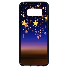 Christmas Background Star Curtain Samsung Galaxy S8 Black Seamless Case