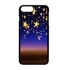 Christmas Background Star Curtain Apple Iphone 8 Plus Seamless Case (black) by Celenk