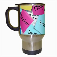 Stickies Post It List Business Travel Mugs (white) by Celenk