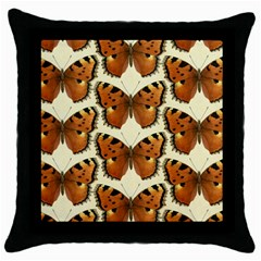 Butterfly Butterflies Insects Throw Pillow Case (black) by Celenk