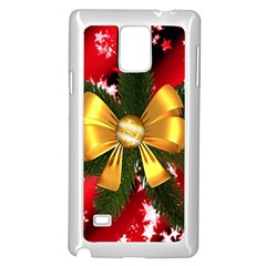 Christmas Star Winter Celebration Samsung Galaxy Note 4 Case (white) by Celenk