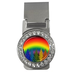 Christmas Colorful Rainbow Colors Money Clips (cz)  by Celenk