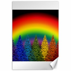 Christmas Colorful Rainbow Colors Canvas 20  X 30