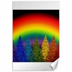 Christmas Colorful Rainbow Colors Canvas 24  X 36  by Celenk