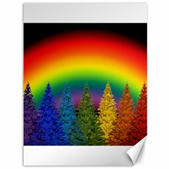 Christmas Colorful Rainbow Colors Canvas 36  X 48   by Celenk