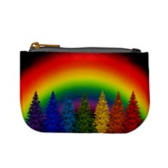 Christmas Colorful Rainbow Colors Mini Coin Purses by Celenk