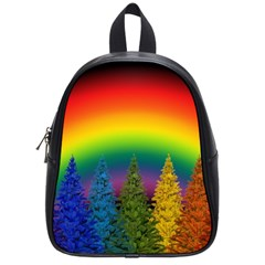 Christmas Colorful Rainbow Colors School Bag (small) by Celenk