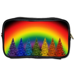 Christmas Colorful Rainbow Colors Toiletries Bags 2 Side by Celenk