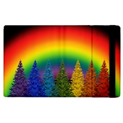 Christmas Colorful Rainbow Colors Apple Ipad 3/4 Flip Case by Celenk
