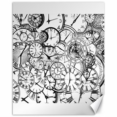 Time Clock Watches Time Of Canvas 11  X 14
