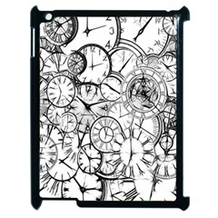 Time Clock Watches Time Of Apple Ipad 2 Case (black) by Celenk