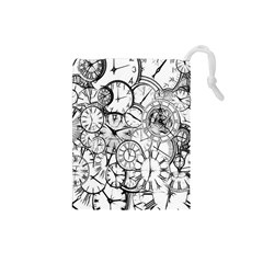 Time Clock Watches Time Of Drawstring Pouches (small)