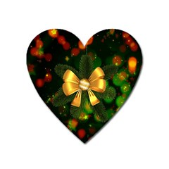 Christmas Celebration Tannenzweig Heart Magnet by Celenk
