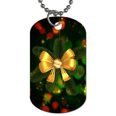 Christmas Celebration Tannenzweig Dog Tag (two Sides)