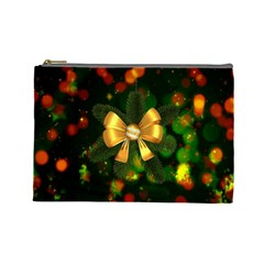 Christmas Celebration Tannenzweig Cosmetic Bag (large)  by Celenk