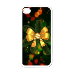 Christmas Celebration Tannenzweig Apple Iphone 4 Case (white)