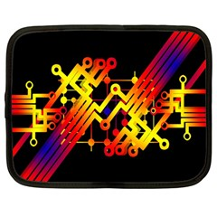Board Conductors Circuits Netbook Case (large) by Celenk