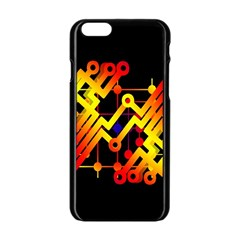 Board Conductors Circuits Apple Iphone 6/6s Black Enamel Case by Celenk