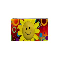 Sun Laugh Rays Luck Happy Cosmetic Bag (small)