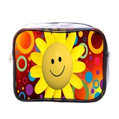 Sun Laugh Rays Luck Happy Mini Toiletries Bags by Celenk