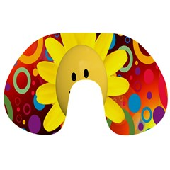 Sun Laugh Rays Luck Happy Travel Neck Pillows by Celenk