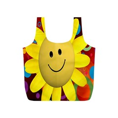 Sun Laugh Rays Luck Happy Full Print Recycle Bags (s)  by Celenk