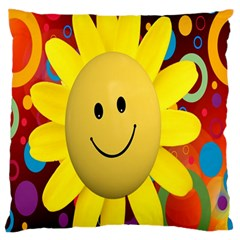 Sun Laugh Rays Luck Happy Standard Flano Cushion Case (one Side)