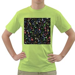 Universe Star Planet All Colorful Green T Shirt
