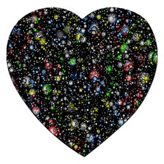 Universe Star Planet All Colorful Jigsaw Puzzle (heart)