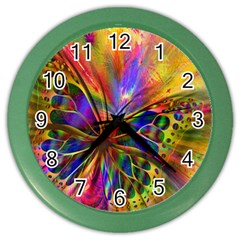 Arrangement Butterfly Aesthetics Color Wall Clocks