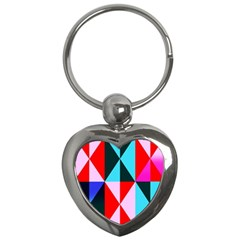 Geometric Pattern Key Chains (heart)  by Celenk