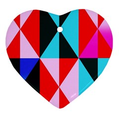 Geometric Pattern Heart Ornament (two Sides) by Celenk