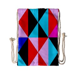 Geometric Pattern Drawstring Bag (small)