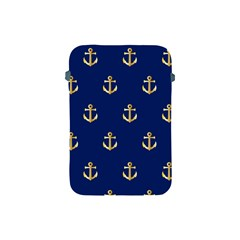 Gold Anchors Background Apple Ipad Mini Protective Soft Cases by Celenk