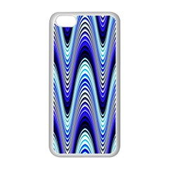 Waves Wavy Blue Pale Cobalt Navy Apple Iphone 5c Seamless Case (white) by Celenk